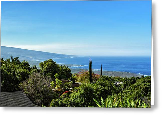 High Angle View From South Kona Greeting Card by Panoramic Images