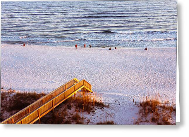 High Angle View Of A Beach, Gulf Greeting Card by Panoramic Images