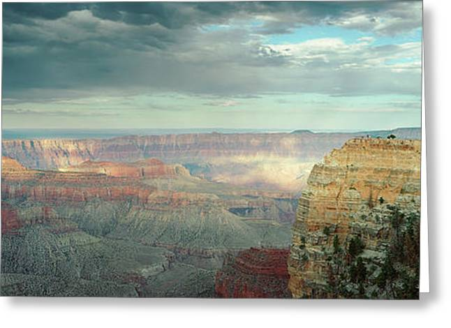 High Angle View Of A Canyon, Angels Greeting Card by Panoramic Images