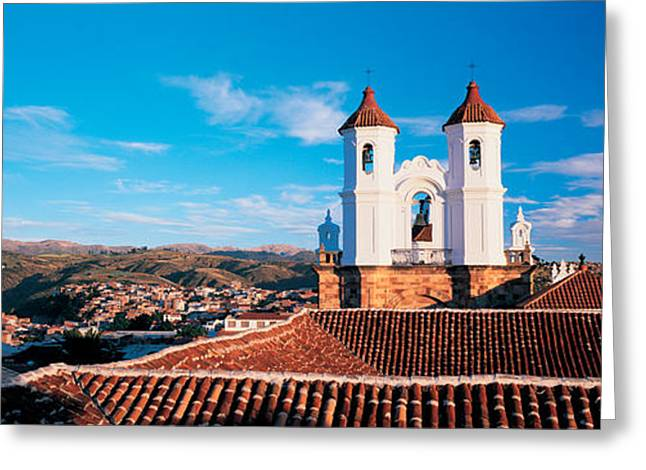 High Angle View Of A City, San Felipe Greeting Card