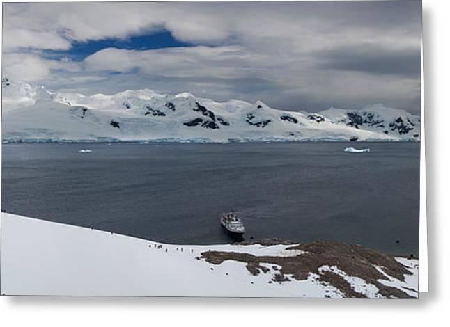 High Angle View Of A Harbor, Neko Greeting Card