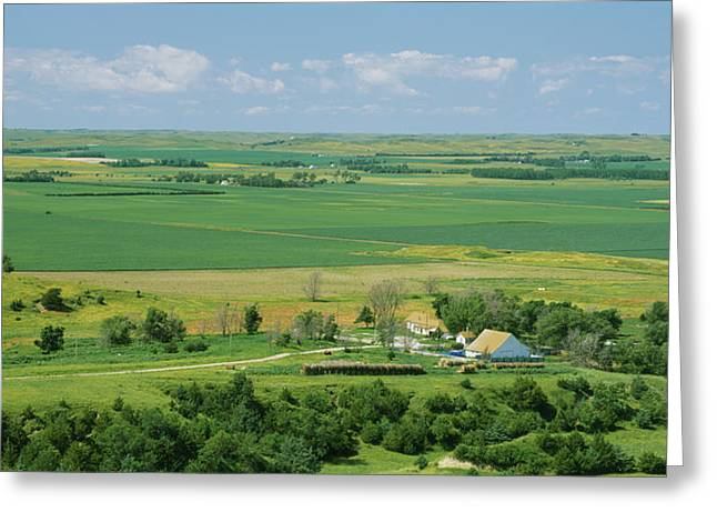 High Angle View Of A Landscape, Arnold Greeting Card by Panoramic Images
