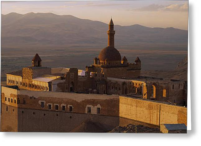 High Angle View Of A Palace, Ishak Greeting Card by Panoramic Images