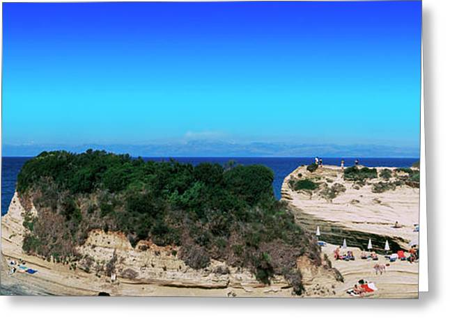 High Angle View Of An Island, Corfu Greeting Card by Panoramic Images