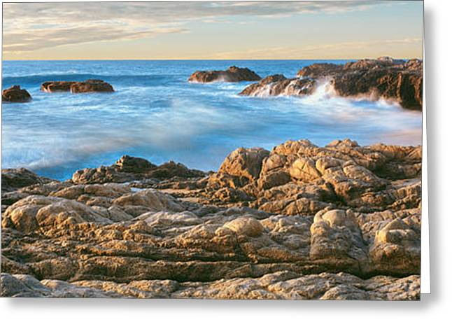 Baja California Greeting Cards - High Angle View Of Coastline, Cerritos Greeting Card by Panoramic Images