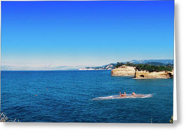 High Angle View Of Ionian Sea, Corfu Greeting Card by Panoramic Images
