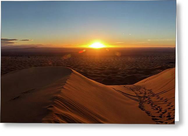 High Angle View Of Sahara Desert Greeting Card