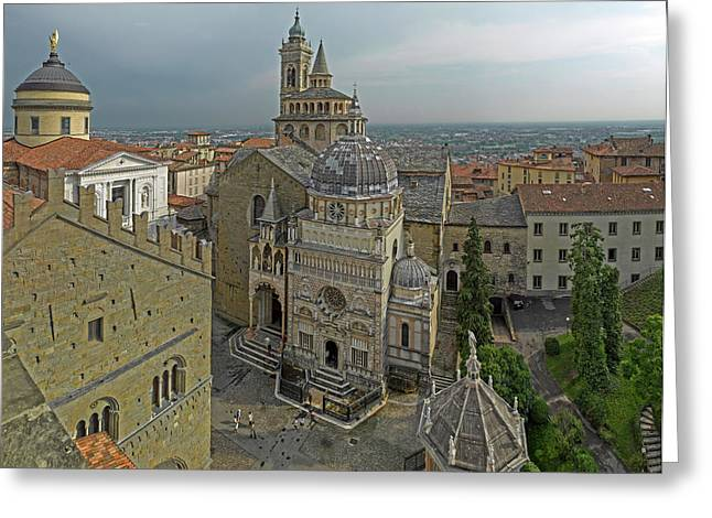 High Angle View Of The Basilica Di Greeting Card