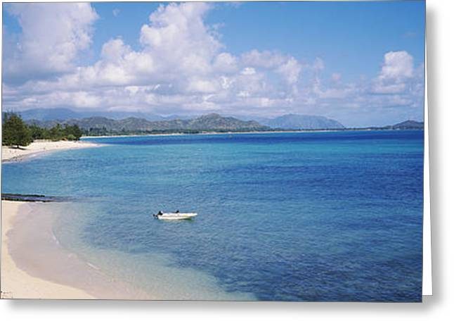 High Angle View Of The Beach, Kailua Greeting Card