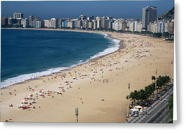 High Angle View Of The Beach, Rid De Greeting Card by Panoramic Images