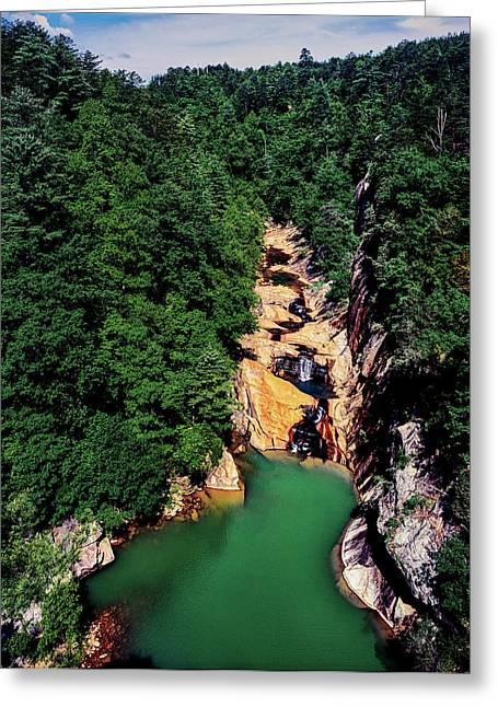 High Angle View Of The Tallulah Gorge Greeting Card