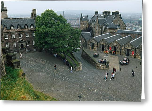 High Angle View Of Tourists In A Greeting Card by Panoramic Images