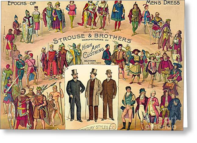 High Art Clothing 1888 Greeting Card by Padre Art