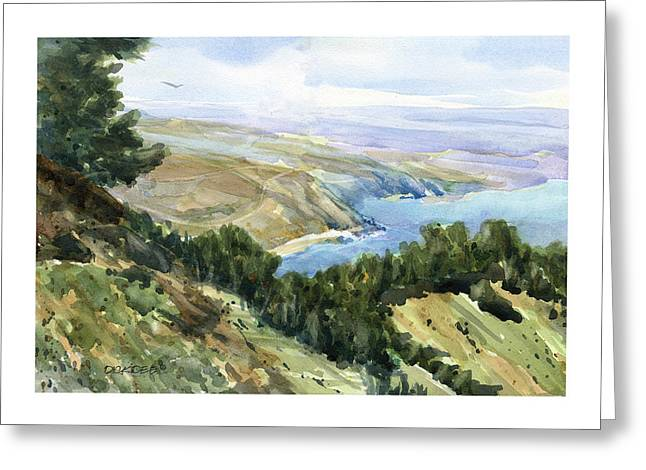 High Coastal View Greeting Card