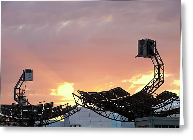 High Concentration Photo Voltaic Panels Greeting Card