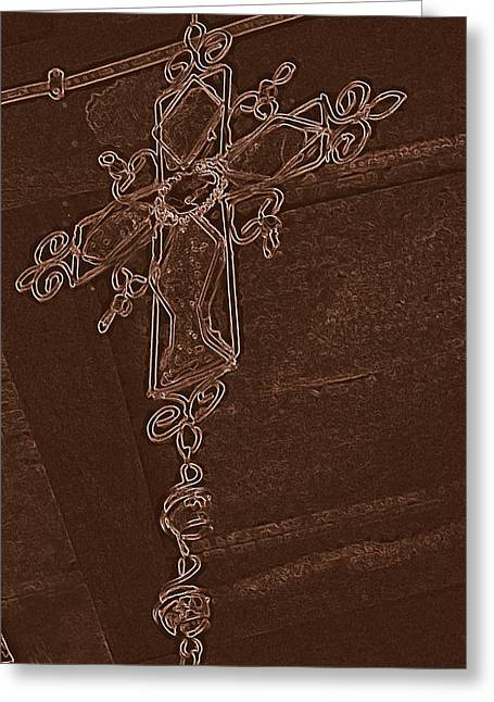 High Cross Up Above  Greeting Card by ARTography by Pamela Smale Williams