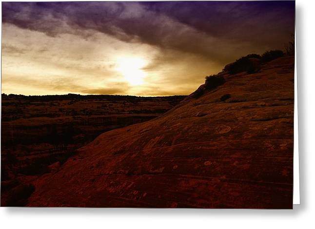 High Desert Clouds Greeting Card by Jeff Swan
