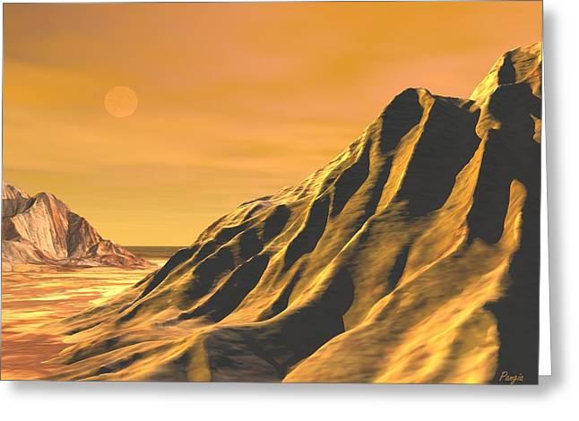 Greeting Card featuring the digital art High Desert by John Pangia