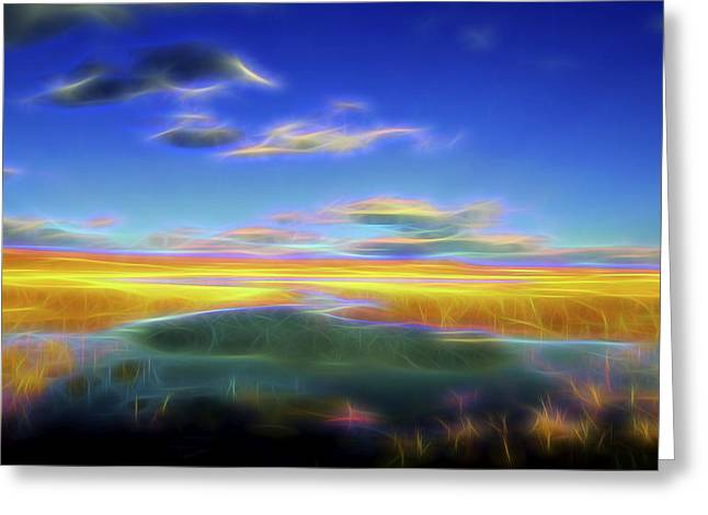 High Desert Lake Greeting Card by William Horden