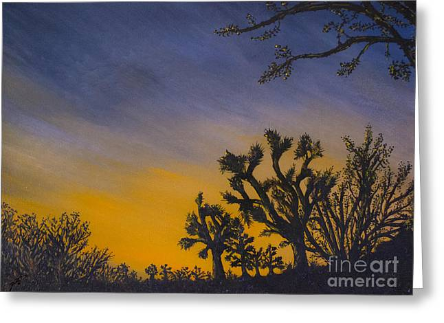 Greeting Card featuring the painting High Desert Twilight by Suzette Kallen