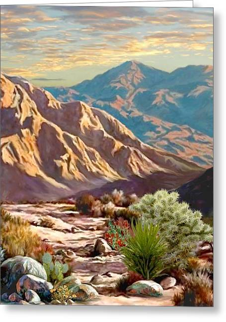 High Desert Wash Portrait Greeting Card