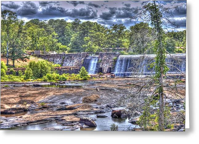 High Falls Dam Greeting Card by Donald Williams