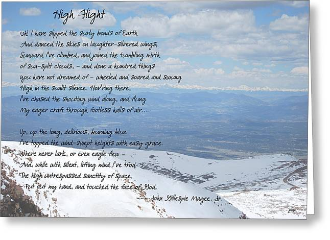 High Flight Greeting Card by Paulette B Wright