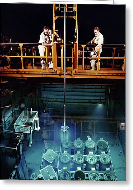 High Flux Isotope Reactor Greeting Card by Union Carbide Corporation's Nuclear Division, Courtesy Emilio Segre Visual Archives, Physics Today Collection/american Institute Of Physics