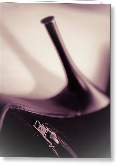 High Heel Of A Brown Shoe Greeting Card