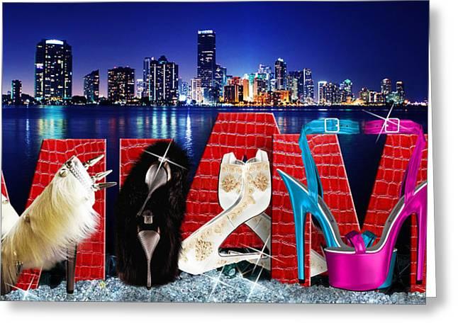High Heels Miami Greeting Card