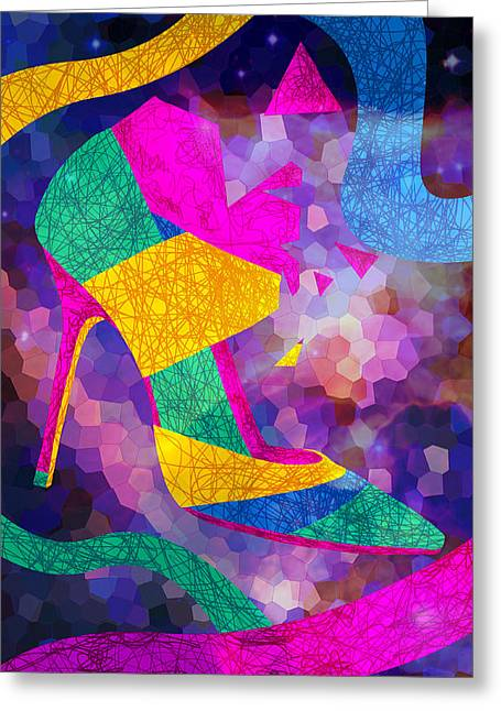 High Heels On Ropes Greeting Card