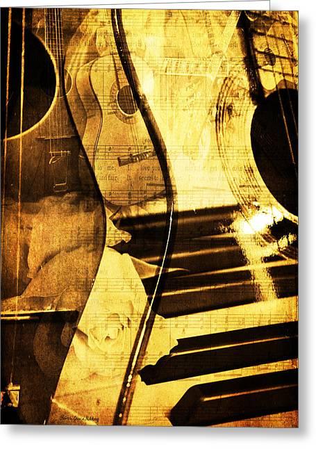 High On Music Greeting Card by Randi Grace Nilsberg