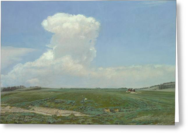 High Plains Big Sky Greeting Card by Terry Guyer