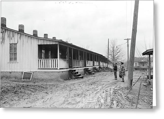 High Point, North Carolina - Housing. Row Of Shacks Greeting Card