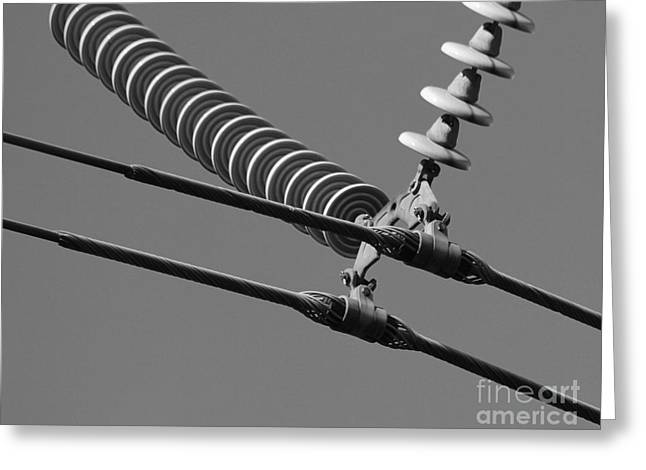 Greeting Card featuring the photograph High Power Line - 4 by Kenny Glotfelty