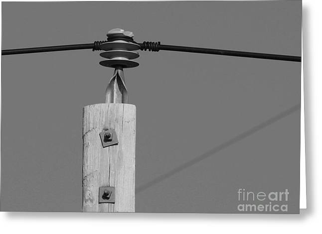 Greeting Card featuring the photograph High Power Line - 6 by Kenny Glotfelty