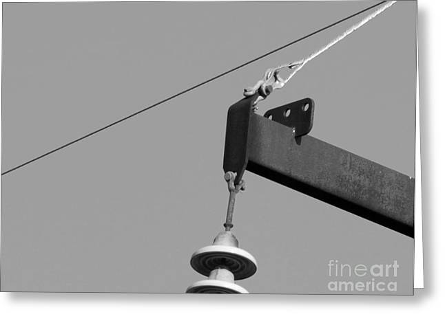 Greeting Card featuring the photograph High Power Line - 7 by Kenny Glotfelty