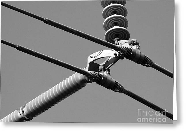Greeting Card featuring the photograph High Power Lines - 1 by Kenny Glotfelty