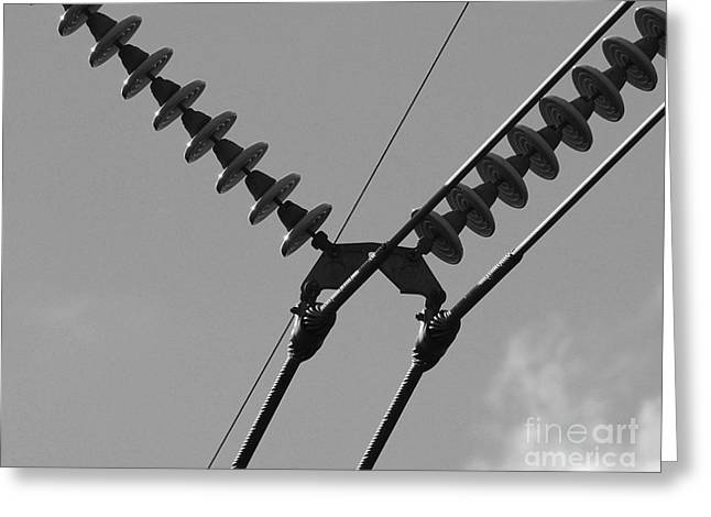 Greeting Card featuring the photograph High Power Lines - 3 by Kenny Glotfelty