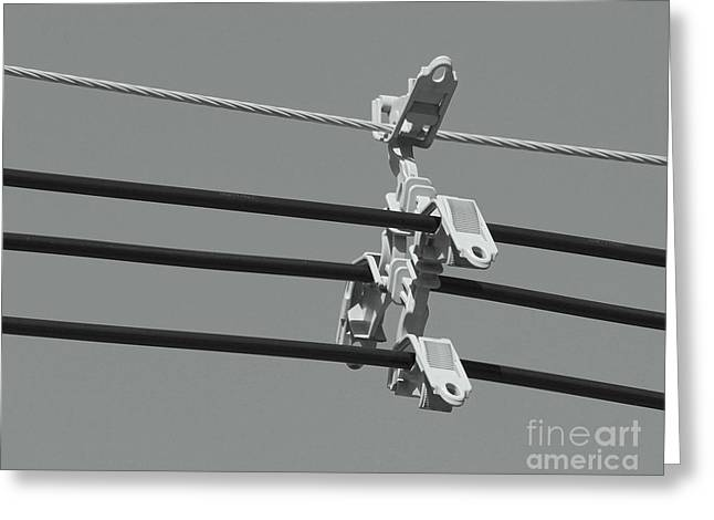 Greeting Card featuring the photograph High Power Lines - 9 by Kenny Glotfelty