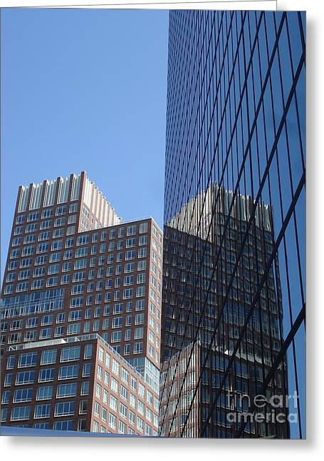High Rise Reflection Greeting Card