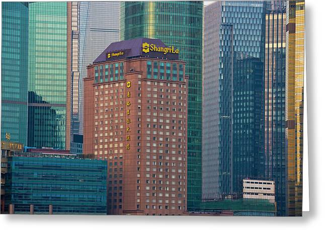 High-rises In Pudong, Shanghai, China Greeting Card by Keren Su