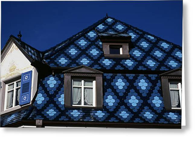 High Section View Of A House, Germany Greeting Card by Panoramic Images