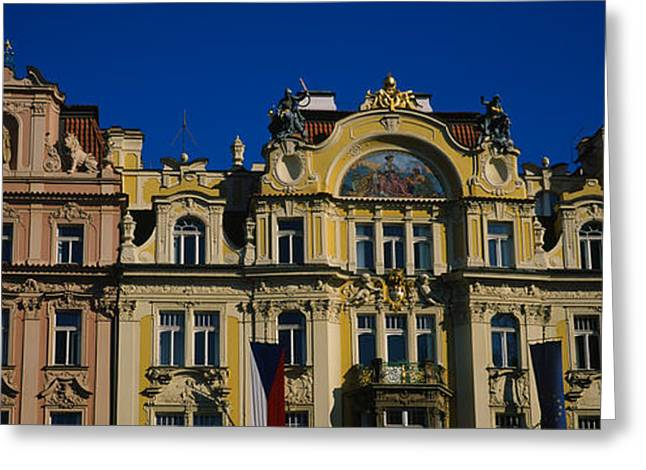 High Section View Of Buildings, Prague Greeting Card by Panoramic Images