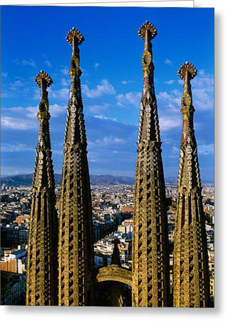 High Section View Of Towers Of A Greeting Card
