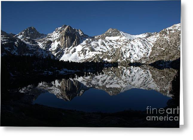 High Sierra Mountain Reflections 1 Greeting Card by Jane Axman