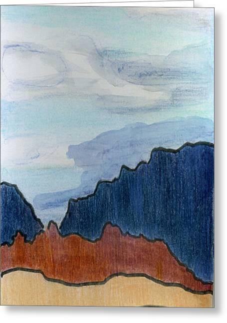 High Skies Greeting Card by Lelia Sorokina