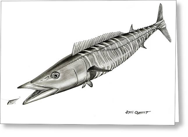High Speed Wahoo Greeting Card by Steve Ozment