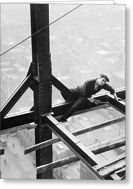 High Steel Worker In Ny Greeting Card by Underwood Archives