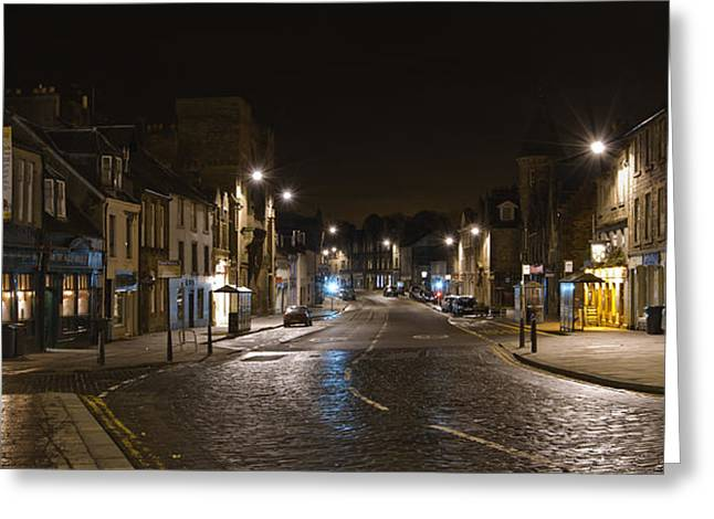 High Street Linlithgow Scotland. Greeting Card by Buster Brown